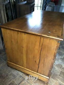 Large Antique Flat File Cabinet, Antique Kitchen Island, Map Cabinet, Apothecary