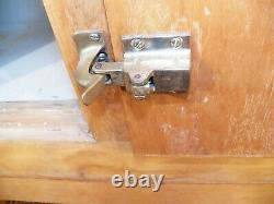 Large Antique Maple 4 Door Ice Box Brass Hardware home Bar size