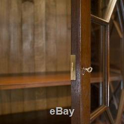 Large Breakfront Bookcase Cabinet, Mahogany, Glazed, Georgian Revival C20th