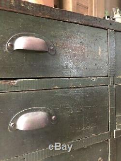 Large Industrial Drawer Cabinet, Antique Apothecary, General Store Cabinet