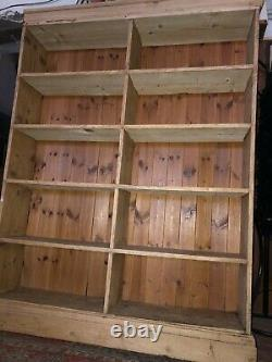 Large Old Rustic Antique Pine Bookcase Kitchen Larder Storage Shelf Cabinet 6ft