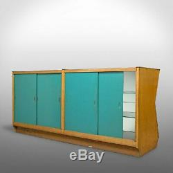 Large Vintage Display Cabinet, Glass, Oak, Retail, Shop-Fitting, Art Deco c. 1930