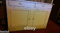 Late 1800's Step Back Cupboard 7' 8 Hutch Architectural Salvage Doors & Drawers