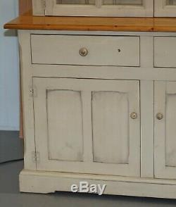 Lovely Vintage Farmhouse Country Welsh Dresser Bookcase With Built In Lights
