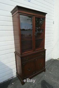 Mahogany 1940s Display Cabinet China Closet Cupboard 9931