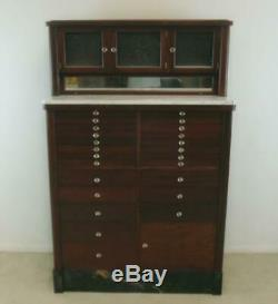 Mahogany American 25 Drawer Dental Cabinet by American Cabinet Company