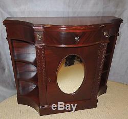 Mahogany Serpentine Bar Cabinet unusual decorative mahogany demi-lune diningroom