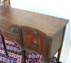 Mahogany Wood Antique Edwardian Sideboard Cabinet / Buffet Bar