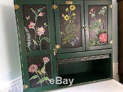 Marsh Antique Hoosier Kitchen Cabinet Custom Paint Unique Roll Top