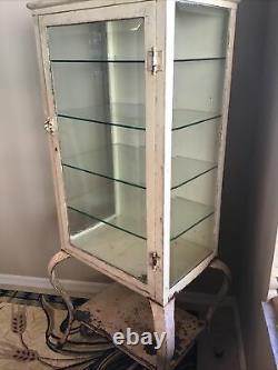 Medical Vintage Metal Cabinet 1900