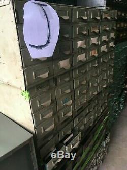 Metal Equipto and Lyon Industrial Organizer Cabinet 18 Drawers Bins Storage