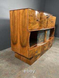 Mid 20th Century Art Deco Walnut Cocktail Cabinet