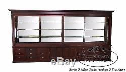 Monumental 15ft Mahogany Apothecary Display Trophy Case Cabinet