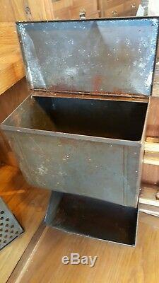 NICE Antique ORIGINAL oak 1910 Hoosier Kitchen Cabinet