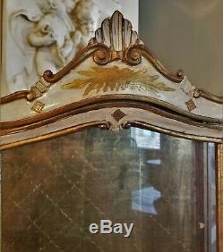 OLD VTG 1940s LOUIS XV STYLE ITALIAN FLORENTINE GILTWOOD VITRINE DISPLAY CABINET