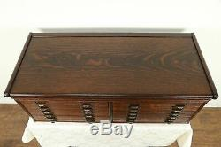 Oak Antique Desktop 12 Drawer File, Collector Cabinet, Jewelry Chest #31279