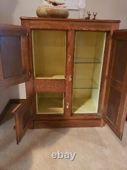 Oak Antique Icebox Refinished Bar