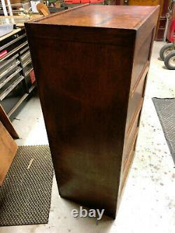 Oak Globe 3 Drawer File Cabinet