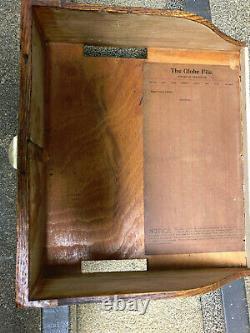 Oak Globe 30 Drawer File Cabinet