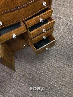 Oak Harvard dental cabinet completely restored