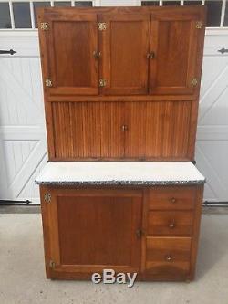 Oak Hoosier Kitchen Cabinet Cupboard Antique