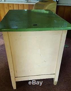 Old Hoosier Porcelain Enamel Top Baker S Table Wood Apt Kitchen Cabinet Base