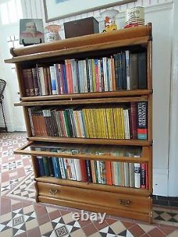 Orig. KENRICK & JEFFERSON Bücherschrank Vitrine Bücherregal ca 1920 Eiche massiv