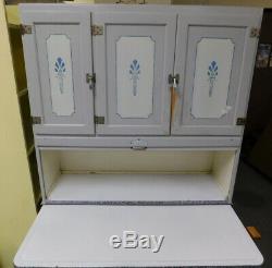 Original Antique Sellers Klear Front Hoosier cabinet hutch kitchen cupboard