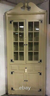 Painted antique corner china cabinet 8 Tall