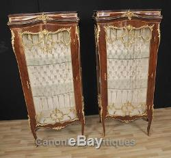 Pair French Empire Display Cabinets Bijouterie Vitrine