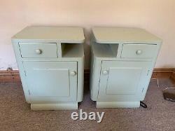 Pair Of Art Deco Antique Bedside Tables