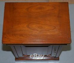 Pair Of Bedside Tables Drawer Made In Italy By Consorzio Mobili Mahogany Frame