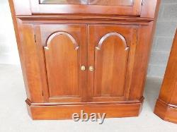 Pennsylvania House Cherry Chippendale Style Corner Cabinets a Pair