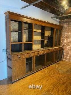 Pharmacy Back Bar 12 Ft Apothecary Display Cabinet VINTAGE