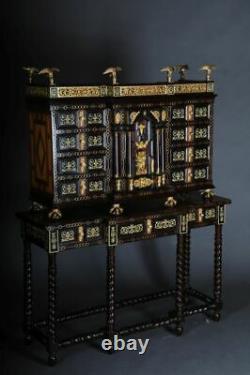 Prächtiger Renaissance Aufsatz-Kabinettschrank O-Gm-150