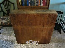Primitive Hardware Parts Cabinet Wood Industrial Storage Farm Chest Vintage Box
