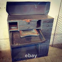 Primitive / Industrial Turn Of The Century Jewelers Work Bench With A Story