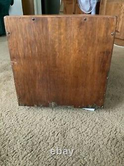 RARE 1900's Yawman & Erbe 6 Drawer Card Catalog File Cabinet Library Antique