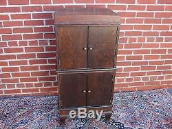 Rare Quatersawn Oak Weis Phonograph Stacking Record Filing Cabinet