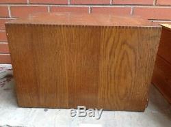 RARE Vtg WEIS Oak 6 Drawer Wood File Dental Optical Watchmaker Tabletop Cabinet
