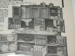 Rare Antique 1899-1906 Hoosier Cabinet / Oak / Good Condition / 55W