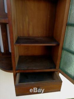 Rare Art Nouveau Jugendstil Medicine Apothecary Bathroom Kitchen Wall Cabinet