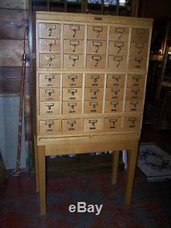 Rare Gaylord Bros Antique Oak Library Card Catalog Cabinet