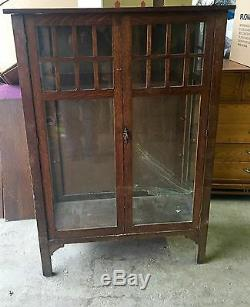 Rare Hersee Oak Arts & Crafts 1900's Bookcase For Restoration Shipping Available