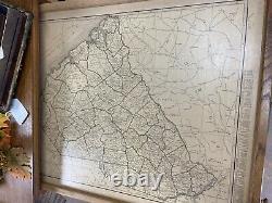 Rare Oak Railroad Map Cabinet Rand McNally