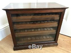 Rare Old Display Case Opticians or Optometrists Cabinet