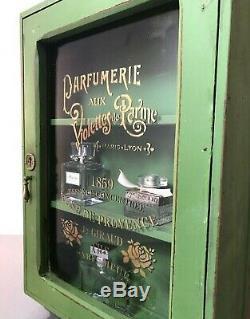 Repurposed Art Deco Bathroom, Display Cabinet. French Purfume Bottle Graphics