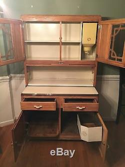 SELLERS Antique Hoosier Style Cabinet with Flour Bin Local Pickup Only