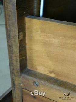 Shaw-Walker Antique Oak 4 Drawer File Cabinet