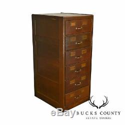 Shaw Walker Antique Oak 6 Drawer File Cabinet
